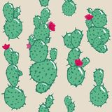 Cactus plant seamless pattern illustration. Abstract design. For super wallpaper, decorative design. royalty free illustration