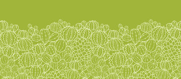 Cactus plants horizontal seamless pattern Stock Images