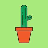 Cactus in pot stock illustratie