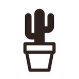 Cactus in pottenpictogram stock illustratie