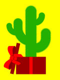 Cactus present Royalty Free Stock Photography