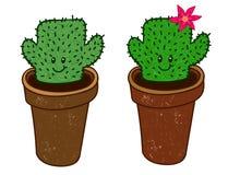 Cactus ragazza e ragazzo Immagine Stock