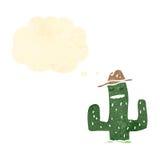 cactus retro cartoon character Stock Photos