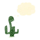 cactus retro cartoon character Stock Image