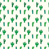 Cactus seamless pattern background Royalty Free Stock Photo