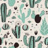 Cactus seamless pattern Royalty Free Stock Photos