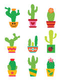 Cactus set Stock Photography