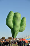 Cactus shaped hot air balloon takes flight Stock Images