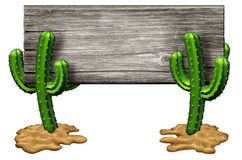 Cactus Sign Stock Photography