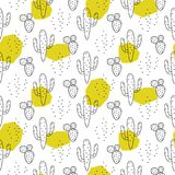 Cactus simple line green spots coloring style vector pattern. Cactus simple line green spots coloring style vector seamless pattern vector illustration