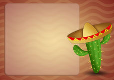 Cactus with sombrero Royalty Free Stock Images