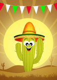 Cactus with sombrero Stock Photography