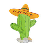 Cactus in sombrero Stock Image