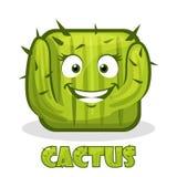 Cactus sorridente quadrato Immagini Stock
