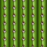 Cactus stem seamless pattern, Cereus alike plant texture. With spines, areola and ribs, realistic colorful cacti background concept, common Cactaceae family Stock Image
