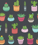 Cactus and succulent plants seamless pattern Royalty Free Stock Image