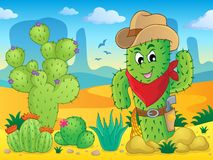 Cactus theme image 4. Eps10 vector illustration Stock Photos