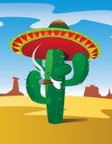 Cactus tooting del sigaro Immagini Stock