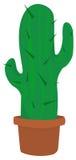 Cactus dans un pot Illustration Stock