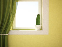 Cactus on the windowsill Royalty Free Stock Photography