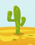 Cactus in woestijn Stock Afbeelding