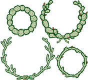 Cactus Wreaths Stock Images