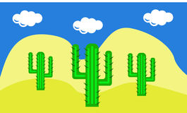Cactuses in the desert Stock Photography
