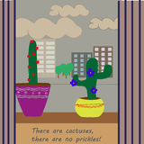 Cactuses. Kind cactuses have no prickles, it have flowers Stock Images