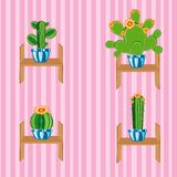 Cactuses on regiment Royalty Free Stock Photography