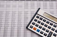 caculator finansowego Fotografia Stock