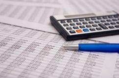 Caculator finanziario Fotografia Stock