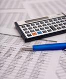Caculator finanziario Fotografie Stock