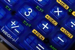 Caculator key 3+. Close-up image of a blue caculator key Royalty Free Stock Image