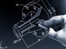 CAD-arbete Arkivfoto