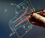 CAD-arbete Fotografering för Bildbyråer