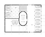 CAD Architectural Plan Drawing. Royalty Free Stock Photo