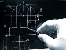 Cad blueprint Stock Photography