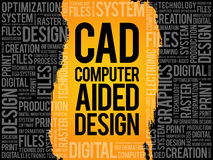 CAD - Computer Aided Design word cloud Stock Photography