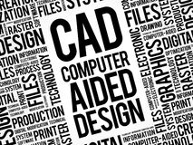 CAD - Computer Aided Design word cloud Royalty Free Stock Photography