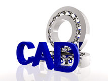 CAD Concept. Ball bearings with CAD symbol Royalty Free Stock Photography