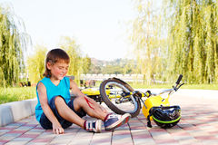 Cad da dalla bici fotografie stock libere da diritti