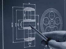 CAD-design Royaltyfri Fotografi
