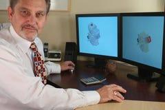 CAD Designer. Mecanical cad designer working with cad software stock photos