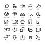 Cad designer, future innovation, database, architecture, 3d model printing vector line icons vector illustration