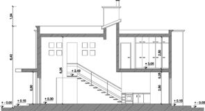 Cad drawing. Detail of a plan Royalty Free Stock Photography