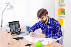 Free Cad Engineer At Work Stock Photography - 91117892
