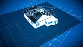 Cad-Haus-Zeichnungen vektor abbildung