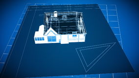 Cad House Drawings. 3d Cad House Drawings in HD vector illustration