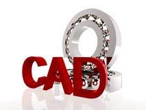 CAD im Rot lizenzfreie abbildung