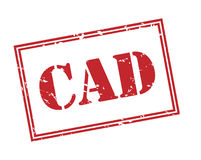 Cad red stamp. On white background Stock Photos